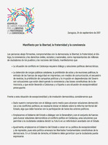 Manifiesto Libertad, fraternidad, convivencia, presentado en la Asamblea de Podemos.