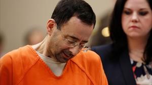 Larry Nassar, durante el juicio en Michigan.