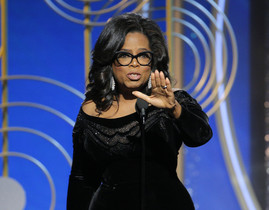 Oprah Winfrey, durante su discurso tras recibir el premio Cecil B. DeMille.