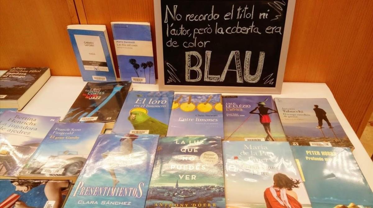 ¿Busques un llibre amb la portada blava?