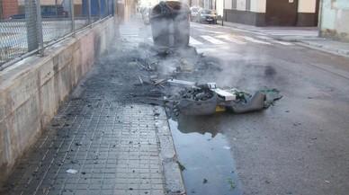 Detingut un jove per cremar contenidors a Sabadell