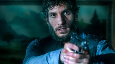 El actor Quim Gutiérrez, en una imagen de la miniserie de Tele 5 'El padre de Caín'.