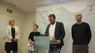 El equipo de Gobierno de Sabadell durante la presentación de los presupuestos para 2017.
