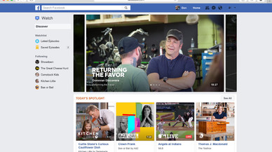 Facebook llança Watch per competir amb Youtube i Netflix