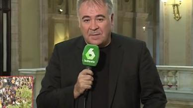 Ferreras denuncia amenaces de mort a la sortida del Parlament
