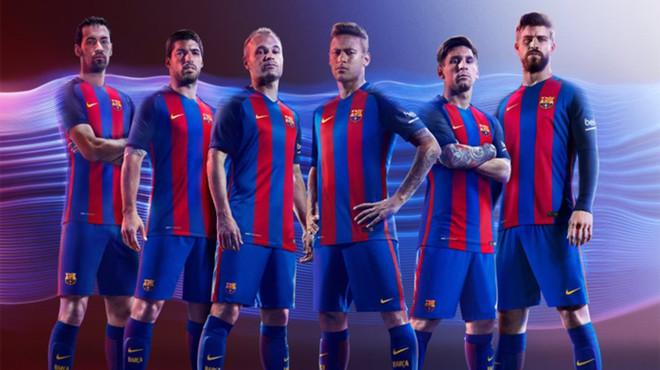 Imagen de la nueva camiseta del Bar�a.