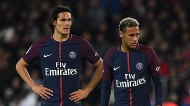Neymar i Cavani gairebé arriben a les mans al vestuari