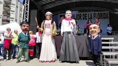 Una Núria Marín 'geganta' irrita l'oposició a l'Hospitalet
