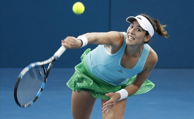 Muguruza ya está en semifinales, en Brisbane.