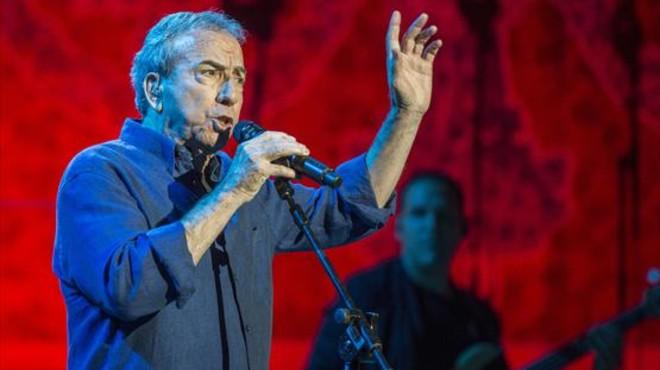Perales, el pasado mi�rcoles, durante su concierto en el Palau.