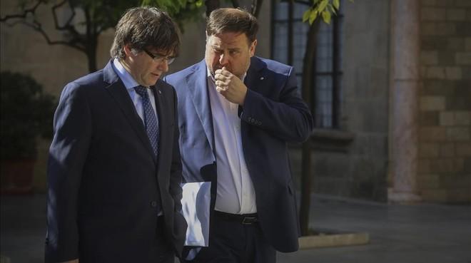 Pulso entre los socios de Gobierno catalán por la acusación contra CDC en el caso Palau