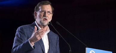 Rajoy, durante su intervenci�n en la reuni�n de la ejecutiva regional del PP de Murcia, este s�bado.