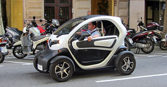 Renault Twizy, modelo de coche eléctrico ofertado para alquiler.
