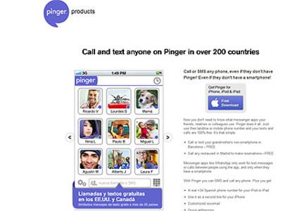 Página de Pinger.