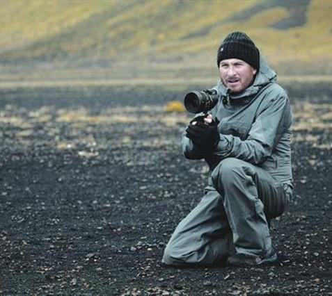 <BR/>El director neoyorquino Darren Aronofksy, durante<BR/>el rodaje de Noé.<BR/>