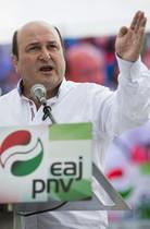 El presidente del PNV, Andoni Ortuzar, durante su intervención en el Alderdi Eguna, este domingo en las campas de Foronda.