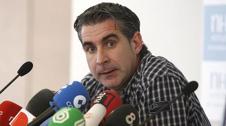 El socio azulgrana Jordi Cases, durante una rueda de prensa