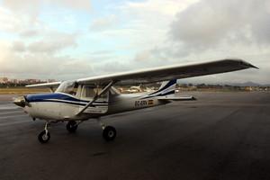 Una de las avionetas que utilizan los alumnos de la escuela de formación del Aeroclub Barcelona-Sabadell