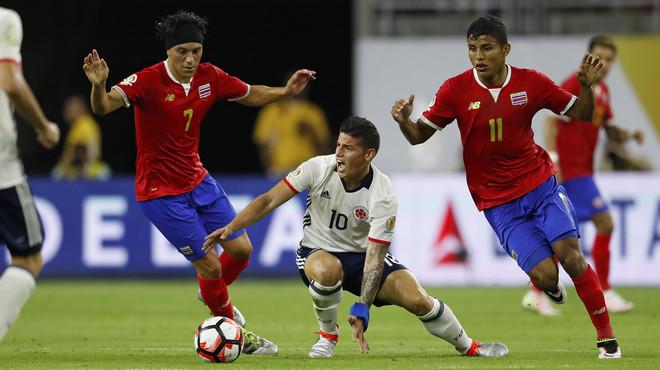 Colòmbia subestima Costa Rica i queda segona al Grup A