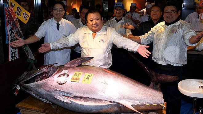 La primera tonyina de lany al Japó ha pesat 212 quilos i ha costat 108.000 euros