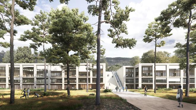 Projecte de ledifici Vhir dels gabinets Baas i Espinet-Ubach, a la Vall dHebron.