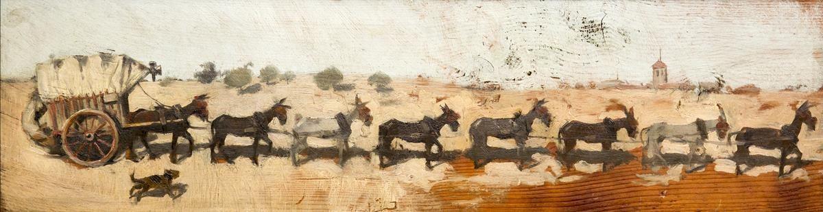 zentauroepp39482072 icult carro amb vuit mules de tir ramon casas 1889 oli 170728180641