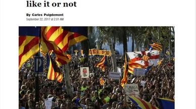 """Puigdemont, en 'The Washington Post': """"Disculpa España. Catalunya votará te guste o no"""""""