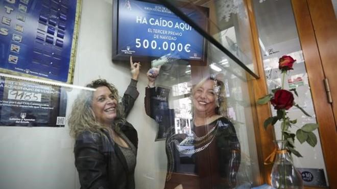 Barcelona ara�a migajas de la loter�a de Navidad