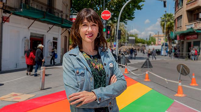La alcaldesa de Santa Coloma, comenta con EL PERI�DICO la actualidad de su ciudad