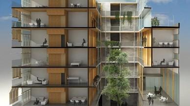 Les vivendes de fusta s'obren pas a l'àrea de Barcelona