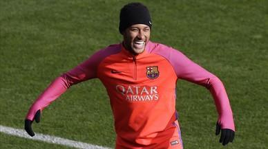 La broma de Neymar a Piqué, a Bilbao
