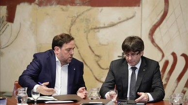 """Puigdemont i Junqueras: """"L'única cosa que no farem és renunciar a votar aquest any"""""""