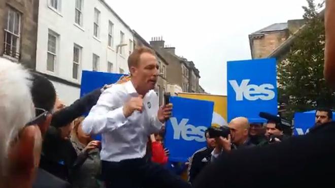 Un unionista escocès suspèn la seva campanya després que li boicotegessin un acte