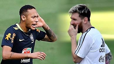 Neymar contra Messi, alta tensió a Belo Horizonte