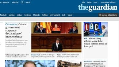 """La prensa internacional destaca la """"suspensión"""" de la independencia"""