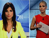 Una presentadora reapareix sense cabells després de laquimioteràpia.