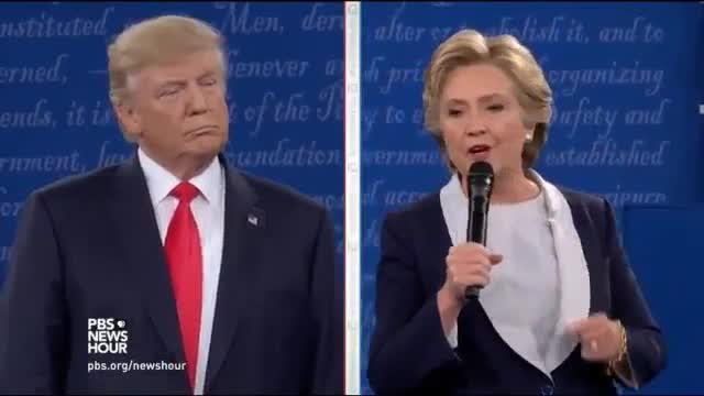 Els moments clau de l'agressiu debat entre Clinton i Trump, en vídeo