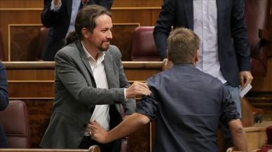"""Pablo Iglesias, a Rajoy: """"Li demano que no apliqui el 155"""""""