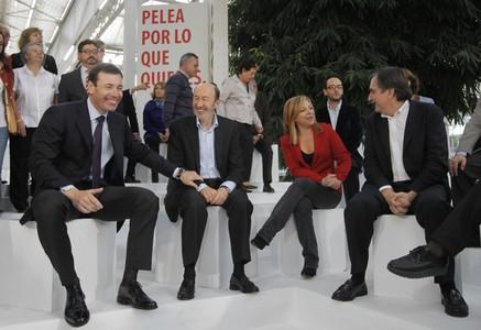 Alfredo Pérez Rubalcaba, en la presentación de la candidatura del PSOE por Madrid.