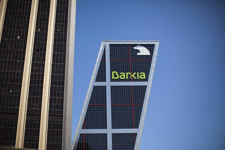 La sede central de Bankia, en Madrid.