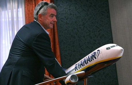 El presidente de Ryanair, Michel O'Leary, en Madrid.