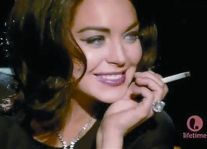 Lindsay Lohan convence en el papel de Elizabeth Taylor_MEDIA_3