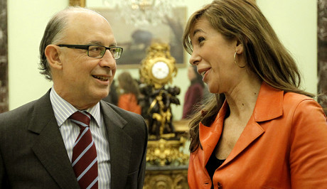 Cristbal Montoro y Alicia Snchez-Camacho, en Madrid, el pasado enero. 