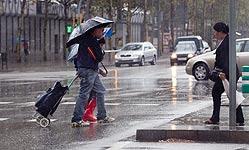 Lluvia en Barcelona. JOAN CORTADELLAS