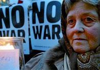 Hi va haver protestes contra la guerra a tot el món. A la foto, la de Munic.