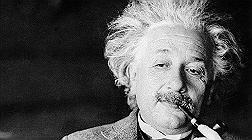 El f�sico Albert Einstein.