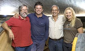 De izquierda a derecha, Ren� Barbier, �lvaro Palacios, Josep Llu�s P�rez y Daphne Glorian