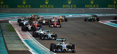 Salida del Gran Premio de Abu Dabi