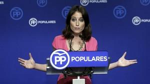 La vicesecretaria de Estudios y Programas del PP y número dos del PPC, Andrea Levy.