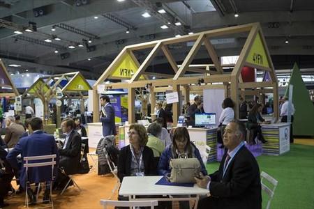 Espacio de start-ups del congreso 4YFN en Barcelona.